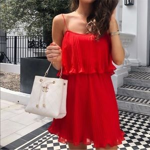 Zara Pleated Dress with Spaghetti Straps